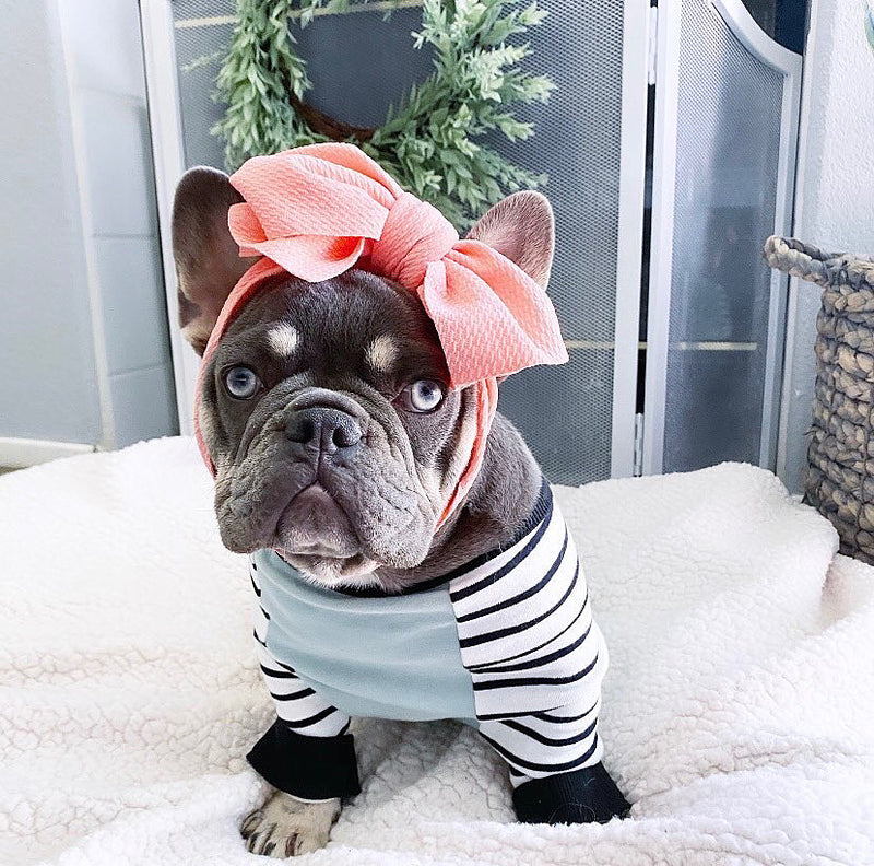Frenchiestore Pet Head Bow | Melocotón claro