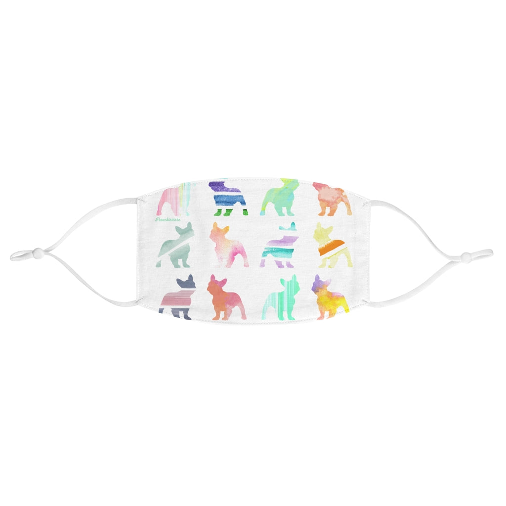 French Bulldogs in Watercolors Reusable Face Mask