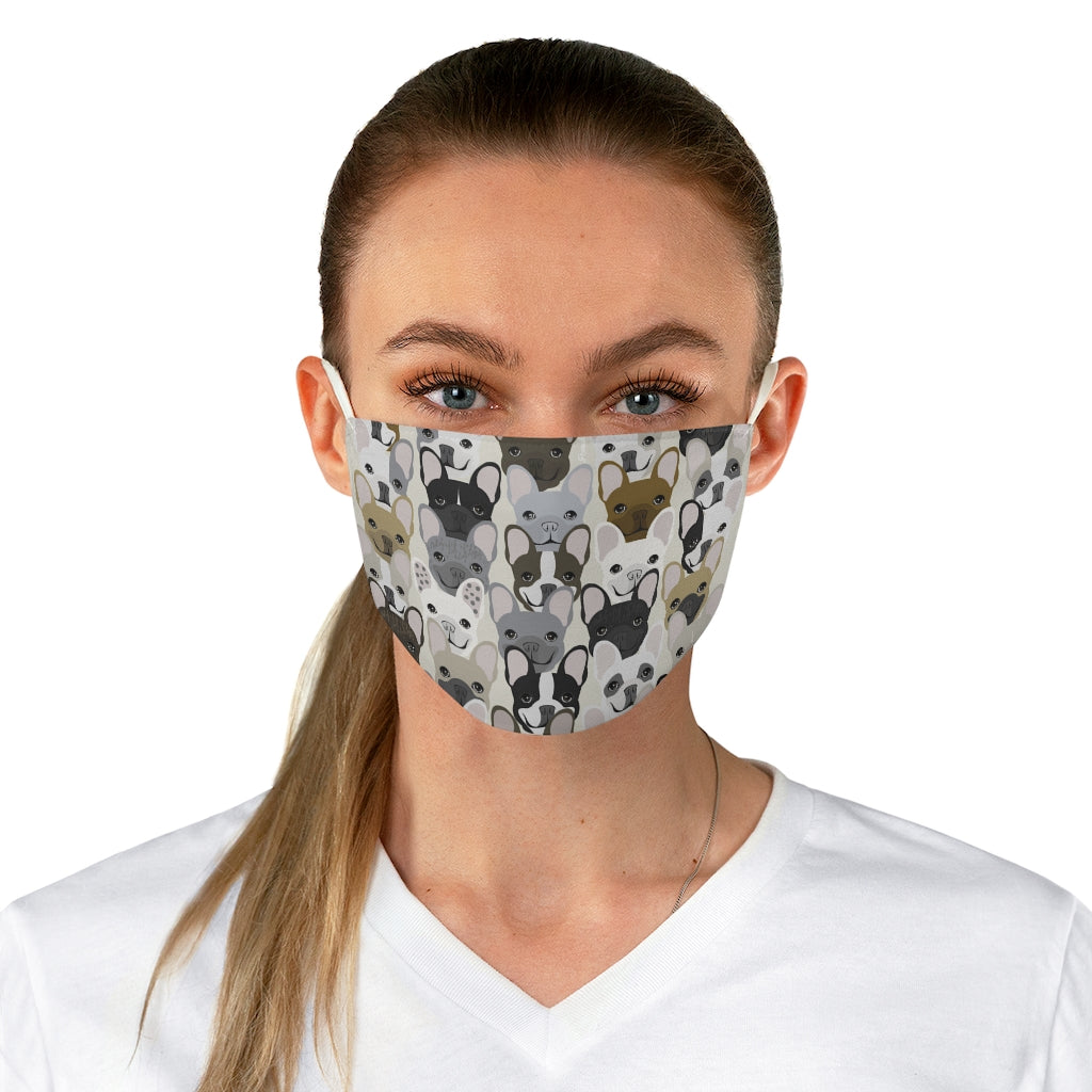 French Bulldog Pattern Reusable Face Mask