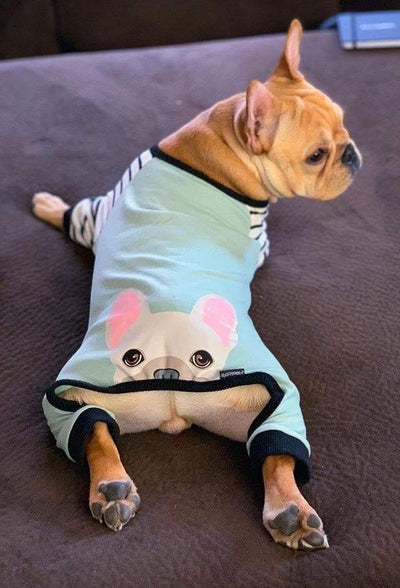 French Bulldog Pajamas | Frenchie Clothing | Cream Frenchie dog