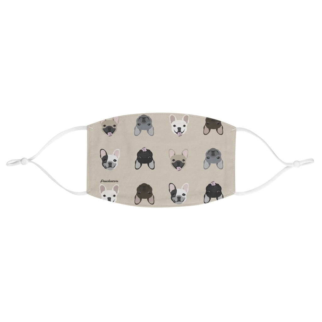 French Bulldog Mix Reusable Face Mask, Frenchie Dog, French Bulldog pet products