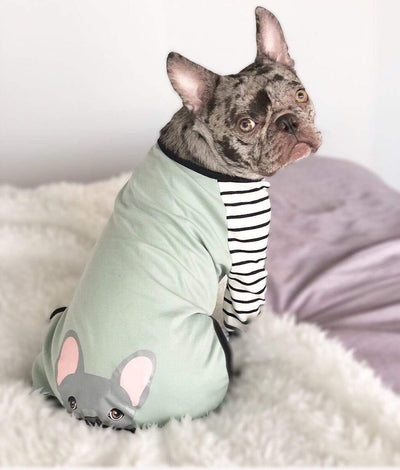 Frenchiestore пижама для собак Blue Frenchie собака