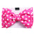 Frenchiestore Pet Head Bow | Pois rosa