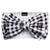 Frenchiestore Pet Head Bow | Plaid bianco e nero