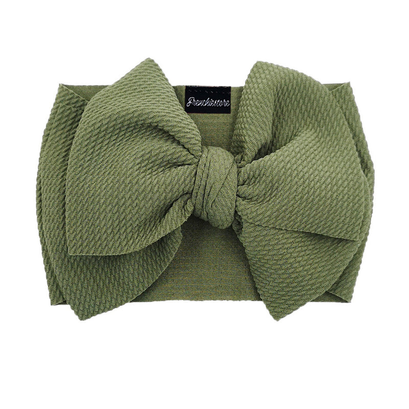 Frenchiestore Pet Head Bow | Army Green