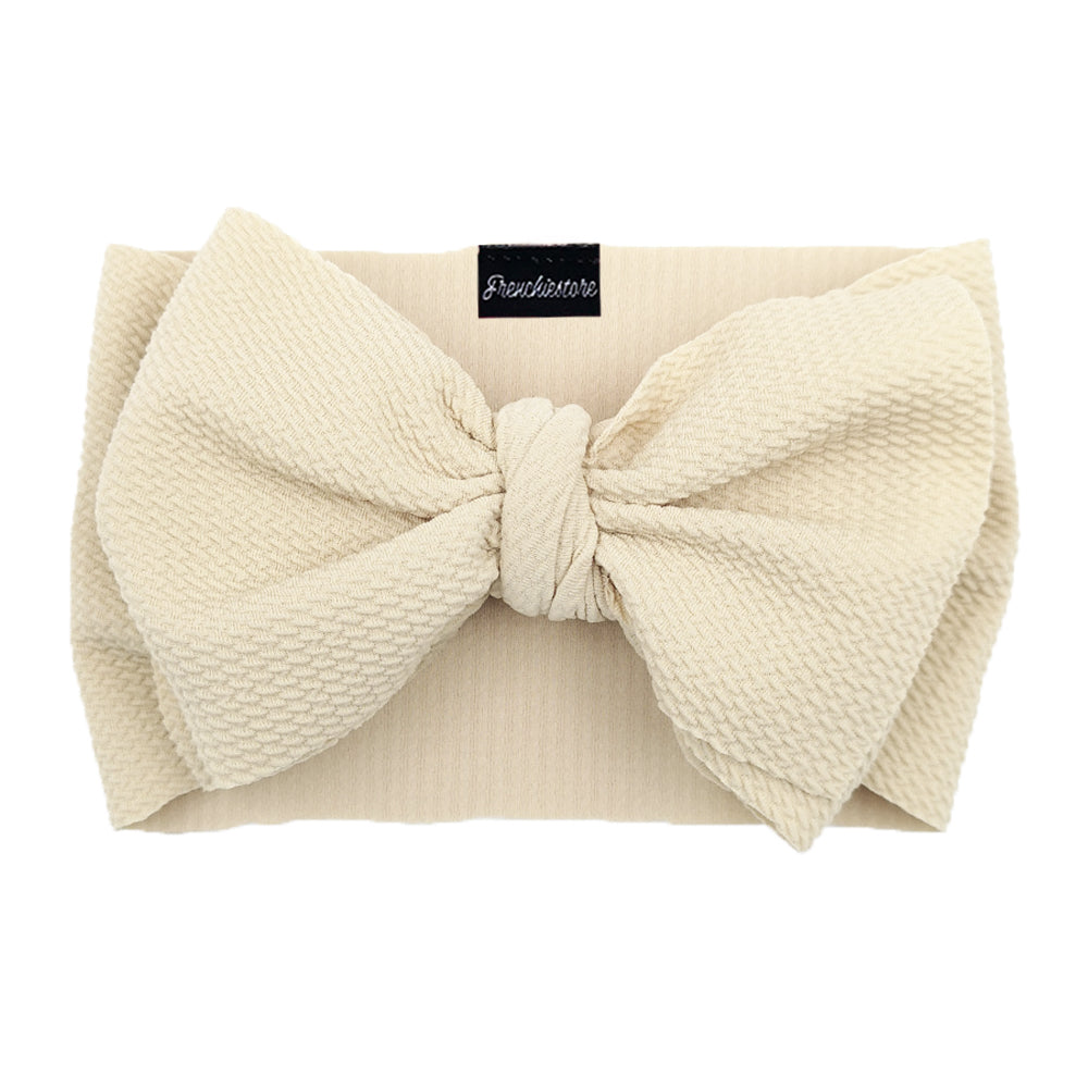 Frenchiestore Pet Head Bow | Ivory