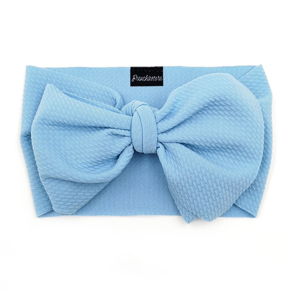 Frenchiestore Pet Head Bow | Blue Sky