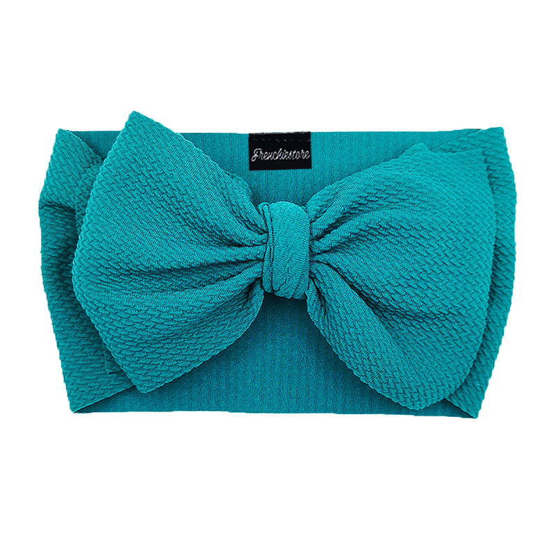 Frenchiestore Pet Head Bow | Teal