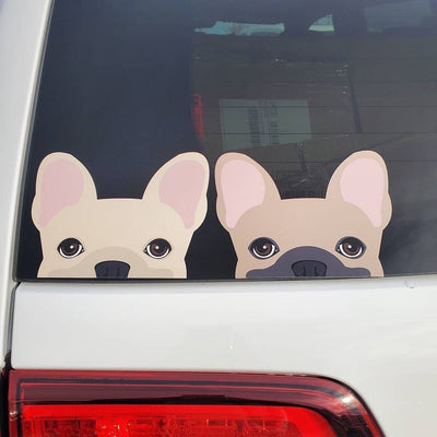 Creme Frenchie Autoaufkleber Frenchiestore