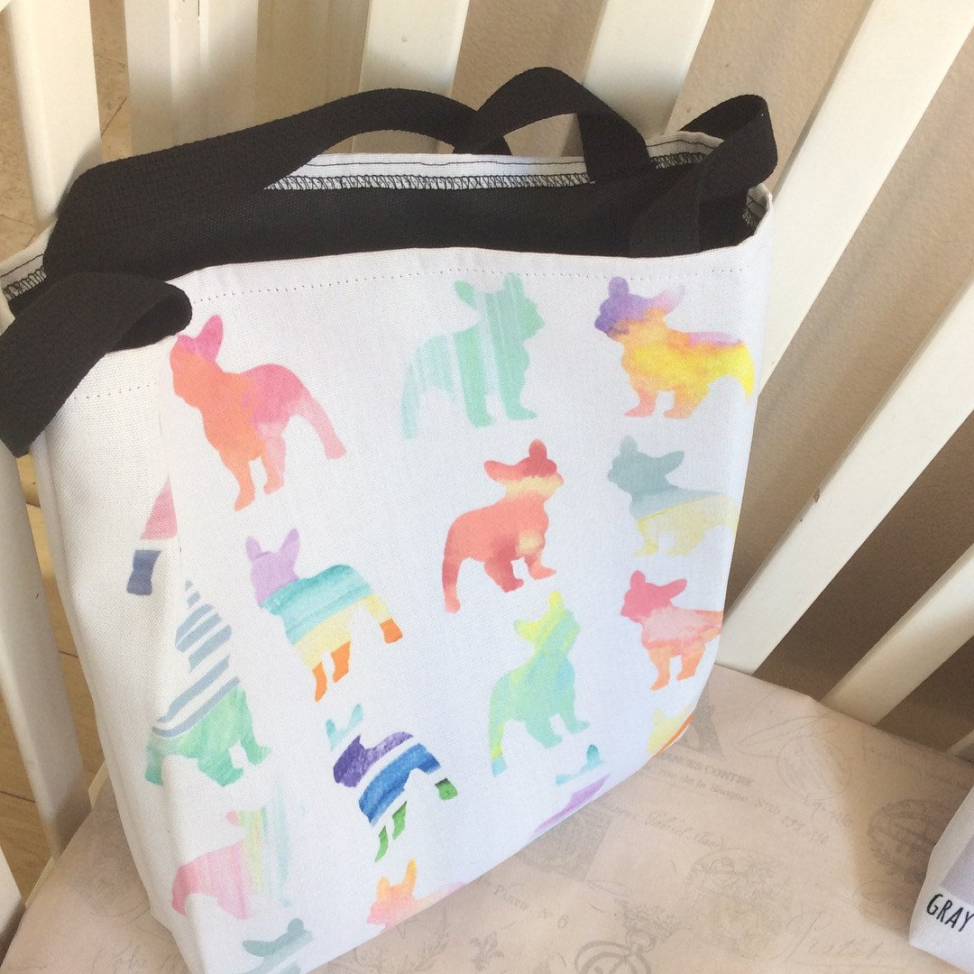 French Bulldogs in Watercolors | Frenchiestore Tote bag