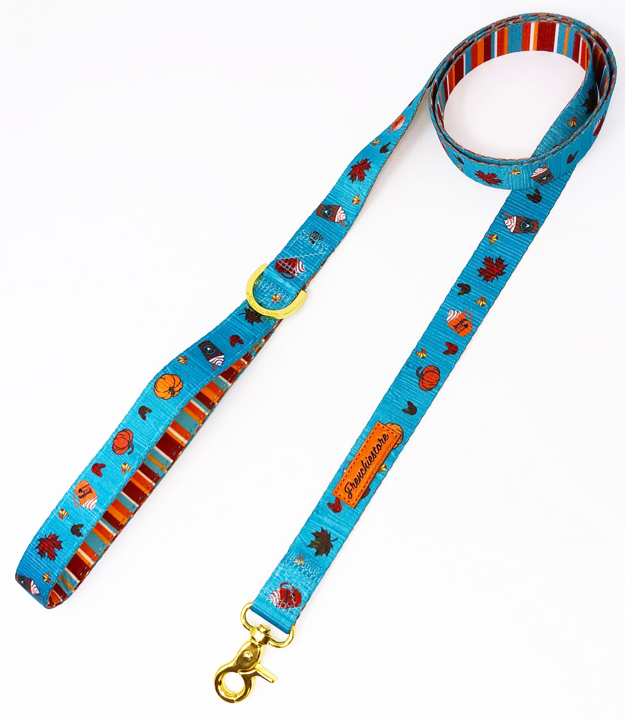 Frenchiestore Luxury Leash | Pumpkin Spice Pupcup, Frenchie Dog, French Bulldog pet products