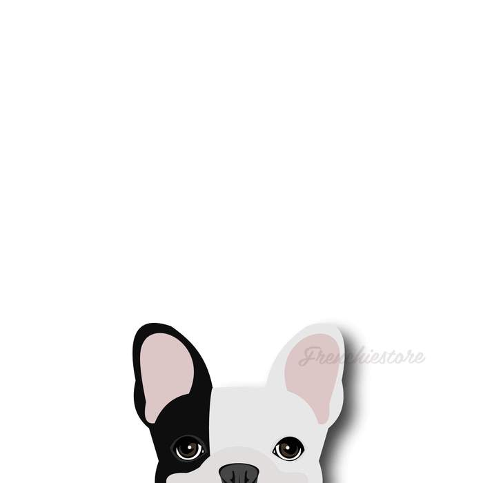 Frenchie Sticker | Frenchiestore | Black L Pied French Bulldog Car Decal