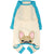 Pigiama Bulldog francese in Aqua | Abbigliamento Frenchie | Fawn Frenchie Dog