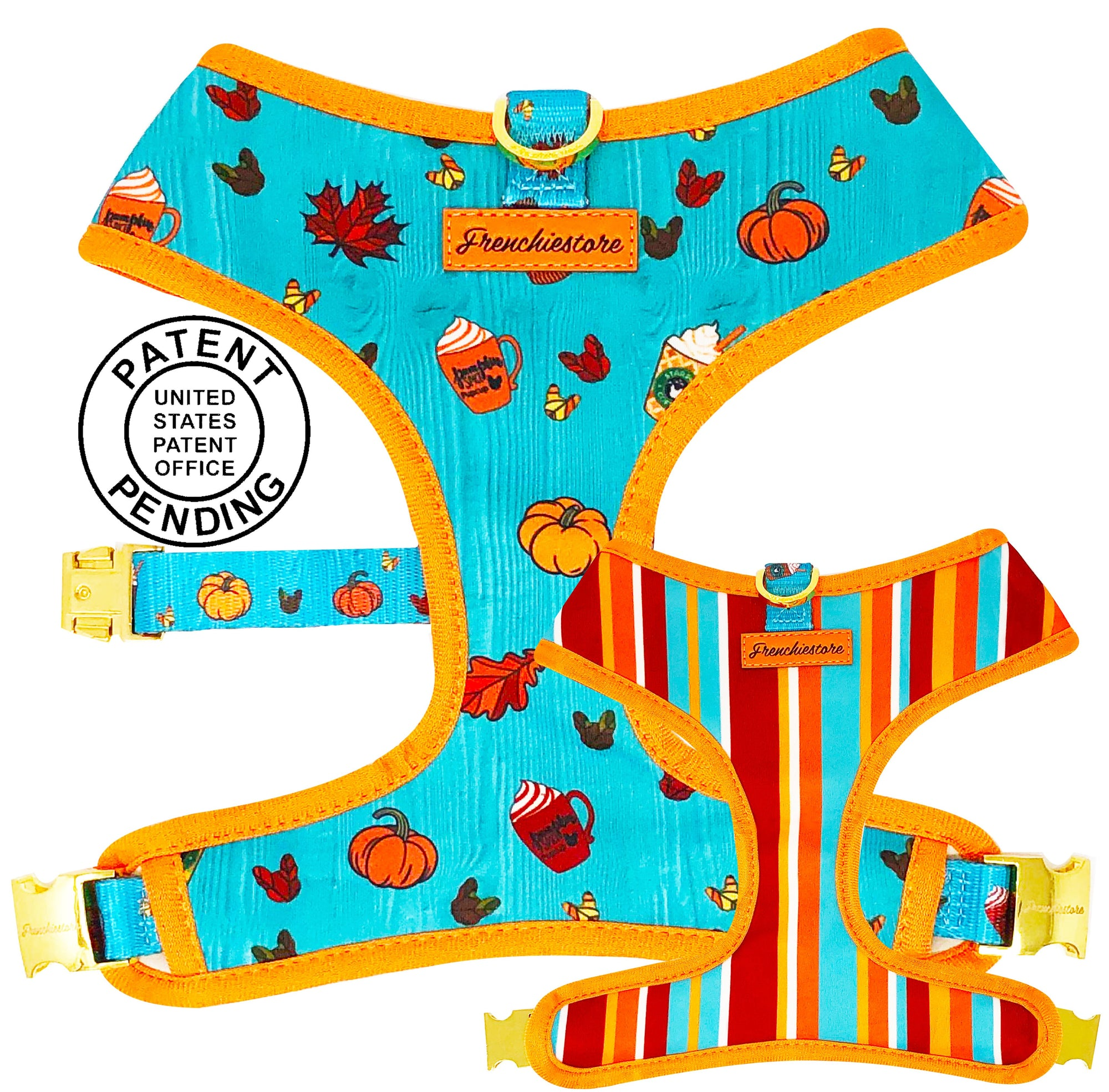 Frenchiestore® Versatile Health Harness | Pumpkin Spice Pupcup