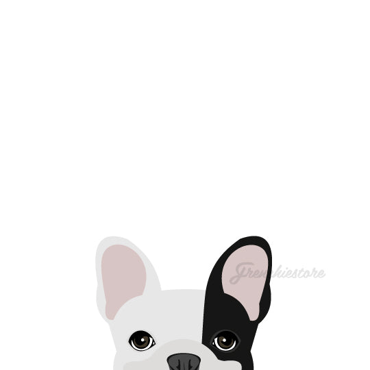 Frenchie Sticker | Frenchiestore |  Black R Pied French Bulldog Car Decal