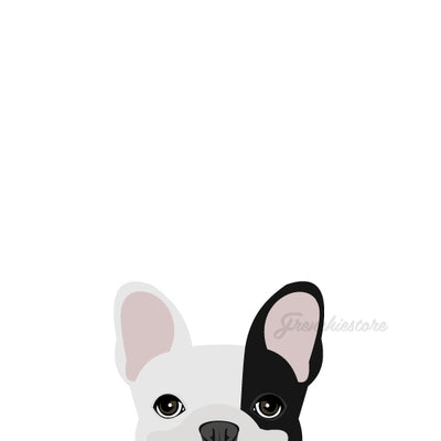 Frenchie Sticker | Frenchiestore | Calcomanía de coche Bulldog francés R Pied negro