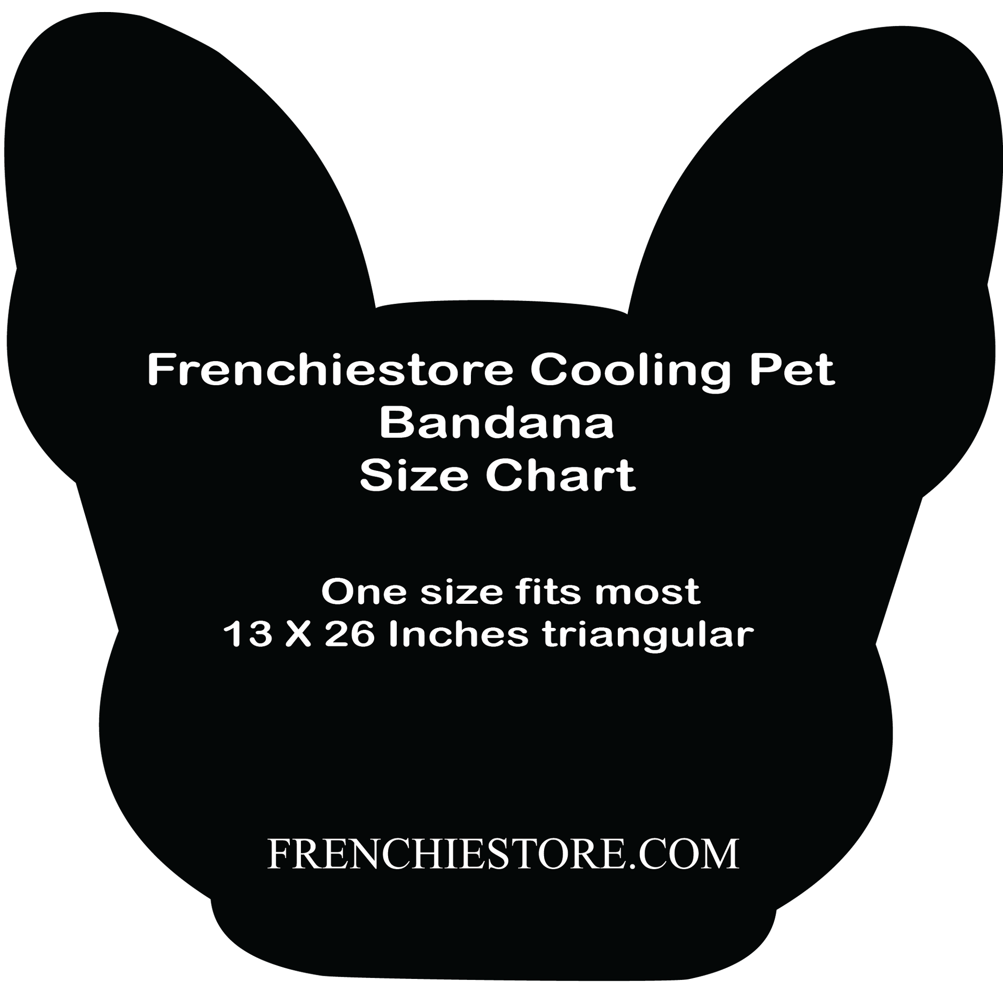 Frenchiestore Dog Cooling Bandana | Pizza