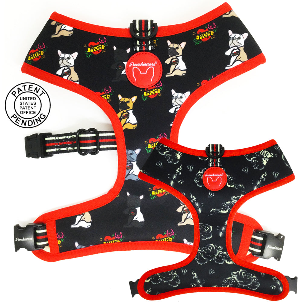 Frenchiestore Reversible Dog Health Harness | Puppy Love
