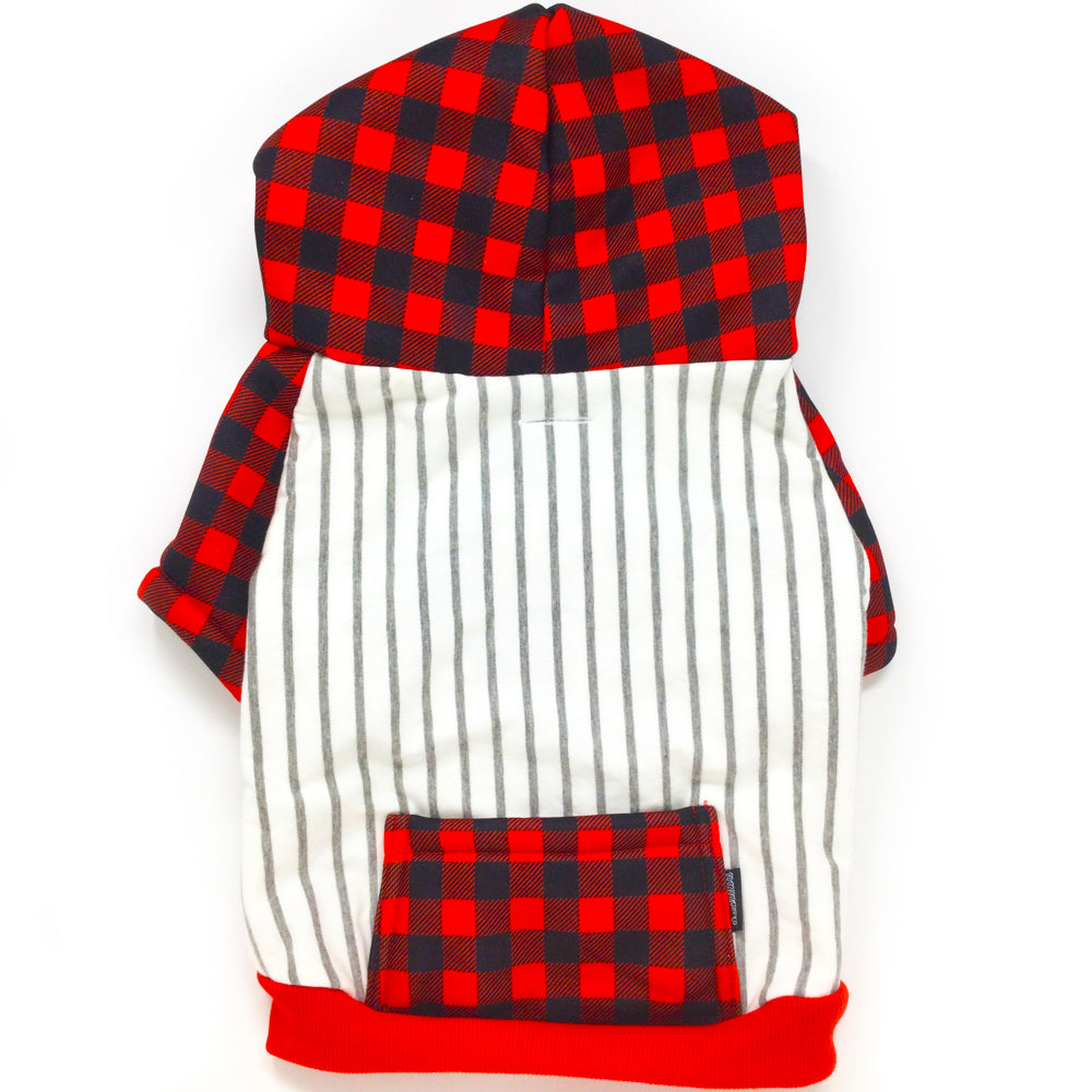 Frenchiestore Organic Dog hoodie | Buffalo Plaid, Frenchie Dog, French Bulldog pet products