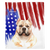 Patriotic American Bully Blanket | American dog in Watercolors