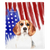 Patriotic Beagle Blanket | American dog in Watercolors, Frenchie Dog, French Bulldog pet products