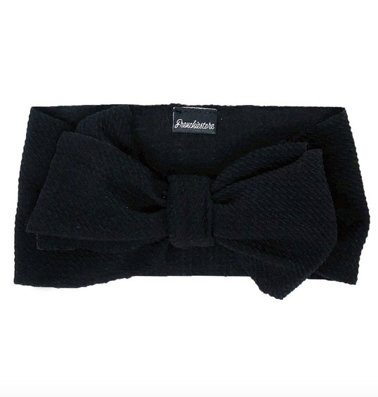 Frenchiestore Pet Head Bow | Negro