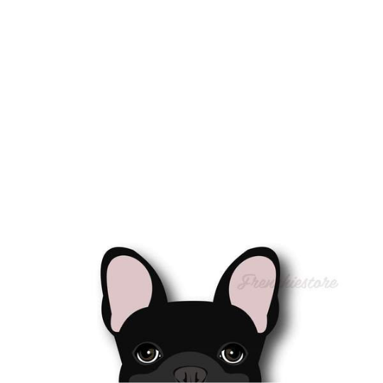 Autocollant Frenchie | Frenchiestore | Sticker voiture de bouledogue français noir