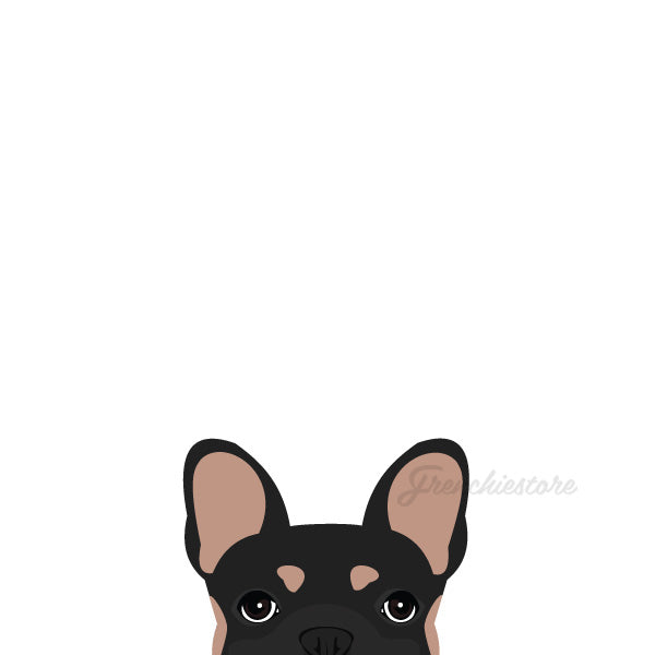 Autocollant Frenchie | Frenchiestore | Sticker voiture bouledogue français noir et beige