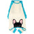 Pigiama Bulldog francese in Aqua | Abbigliamento Frenchie | Cane Frenchie nero