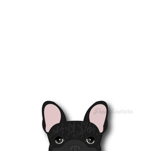 Autocollant Frenchie | Frenchiestore | Sticker voiture bringé français bouledogue français