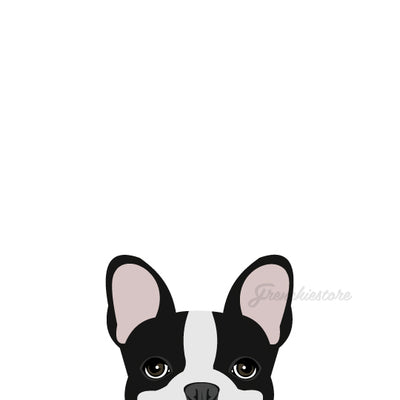 black pied frenchie bulldog car decal made by frenchiestore