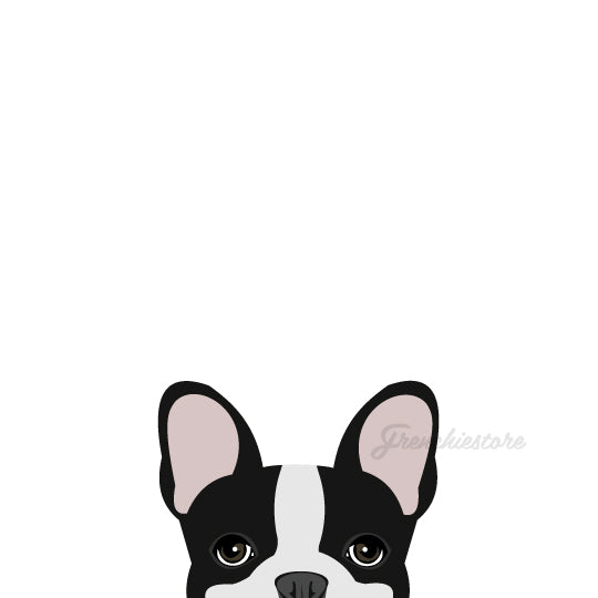black pied frenchy car decal made by frenchiestore