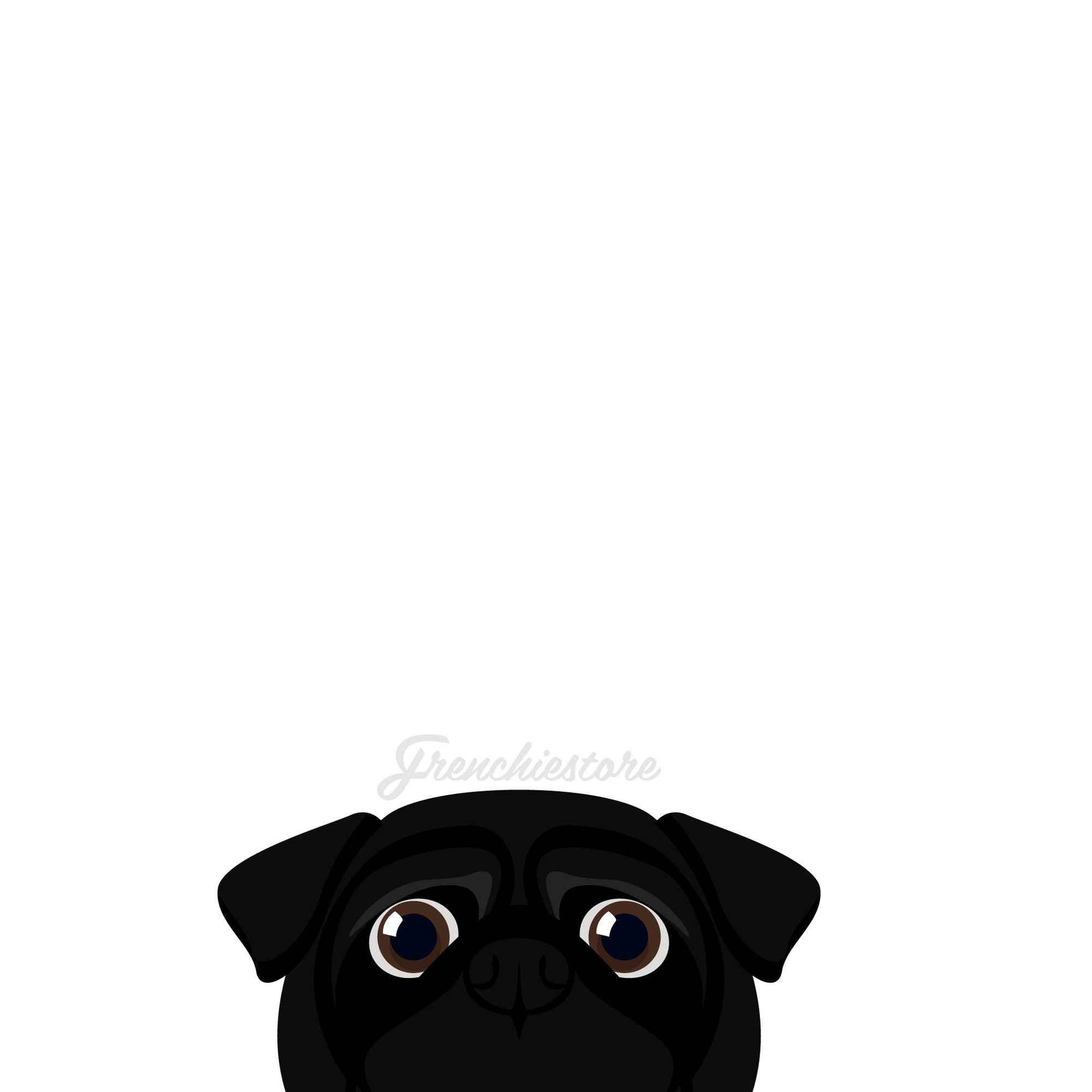 Pug Dog Sticker | Frenchiestore |  Black Pug Car Decal