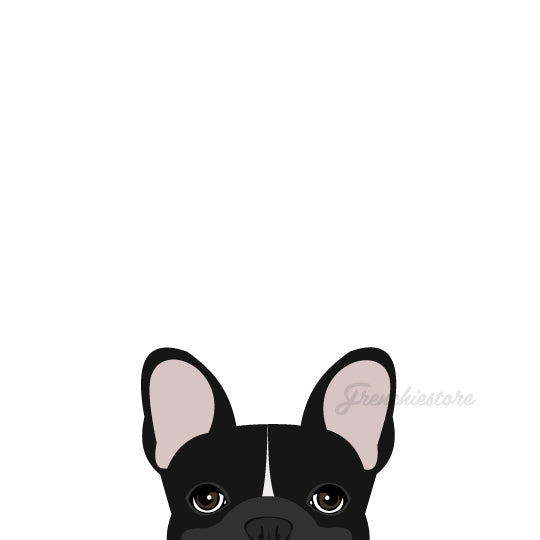 Autocollant Frenchie | Frenchiestore | Décalque de voiture Black W Bulldog Français W Line
