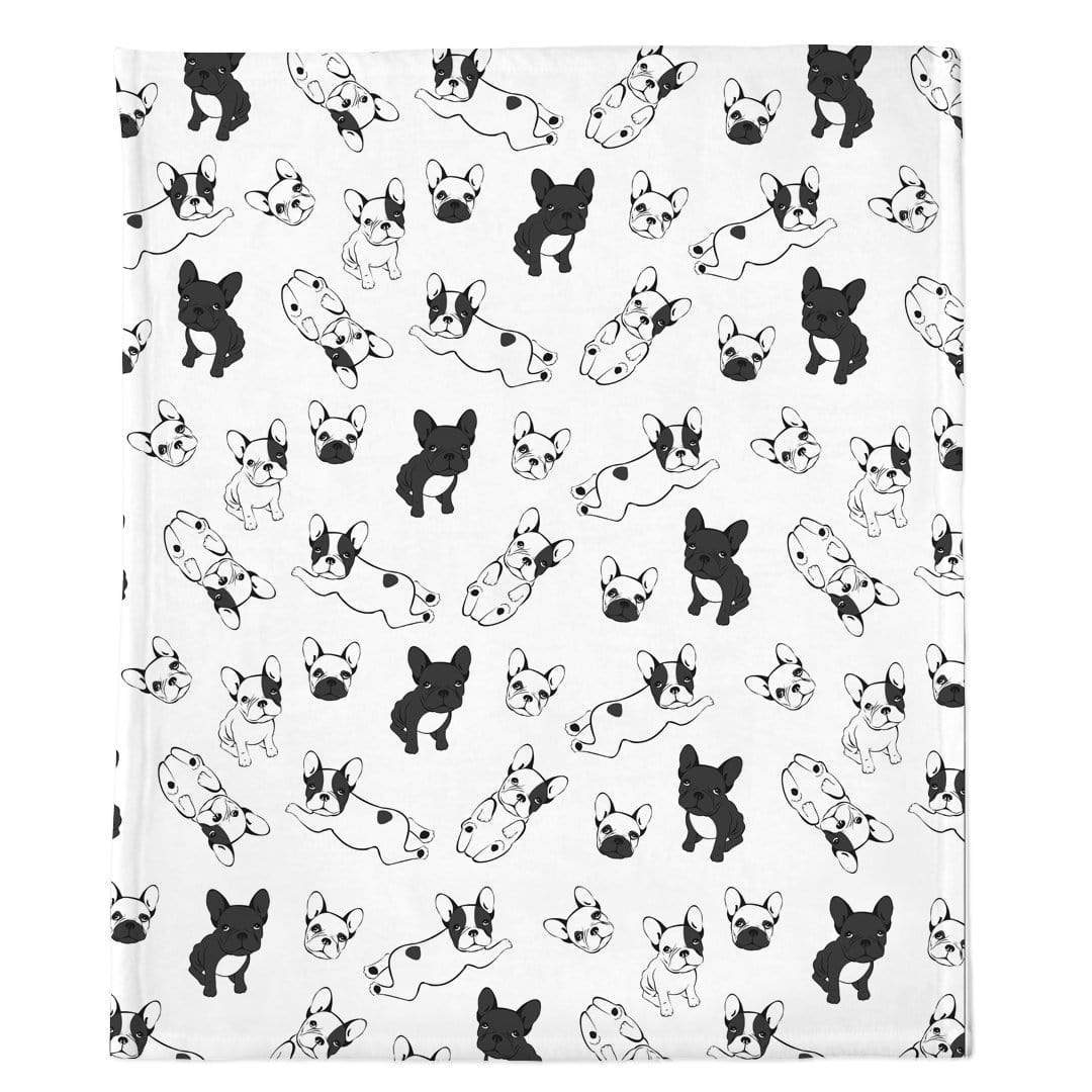 Frenchie Blanket | Frenchiestore | Bulldogs franceses en blanco y negro