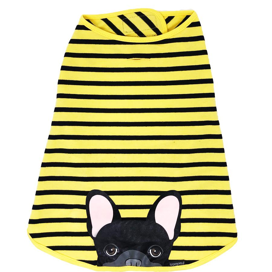 Black Frenchie Dog Anxiety Organic Shirt | Bumblebee frenchy store