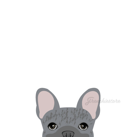 Frenchie Sticker | Frenchiestore |  Blue Brindle French Bulldog Car Decal