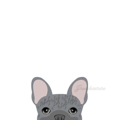 Frenchie Sticker | Frenchiestore | Calcomanía de coche Bulldog Francés atigrado azul