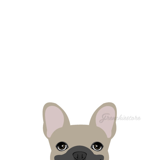 Frenchie Sticker | Frenchiestore | Calcomanía de coche Blue Bulldog francés Fawn