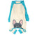 Pigiama Bulldog francese in Aqua | Abbigliamento Frenchie | Blue Frenchie Dog