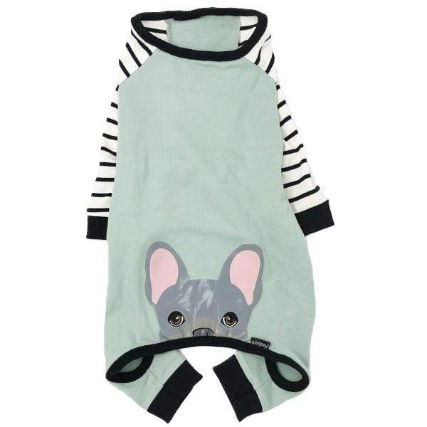 French Bulldog Pajamas | Frenchie Clothing | Blue Frenchie dog