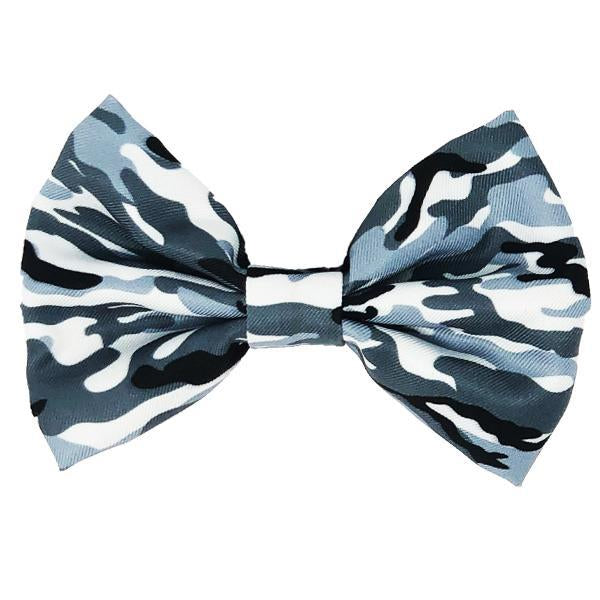 Frenchiestore dog Bowtie | Blue Ultimate Camo