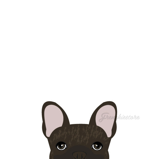 Frenchie Sticker | Frenchiestore | Brown Brindle French Bulldog Car Decal, Frenchie Dog, French Bulldog pet products