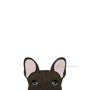 Car Vinyl Die Cut Decal W/ Peeking Frenchie