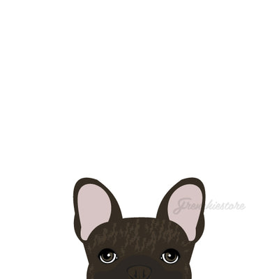 Autocollant Frenchie | Frenchiestore | Sticker voiture Brindle brun français