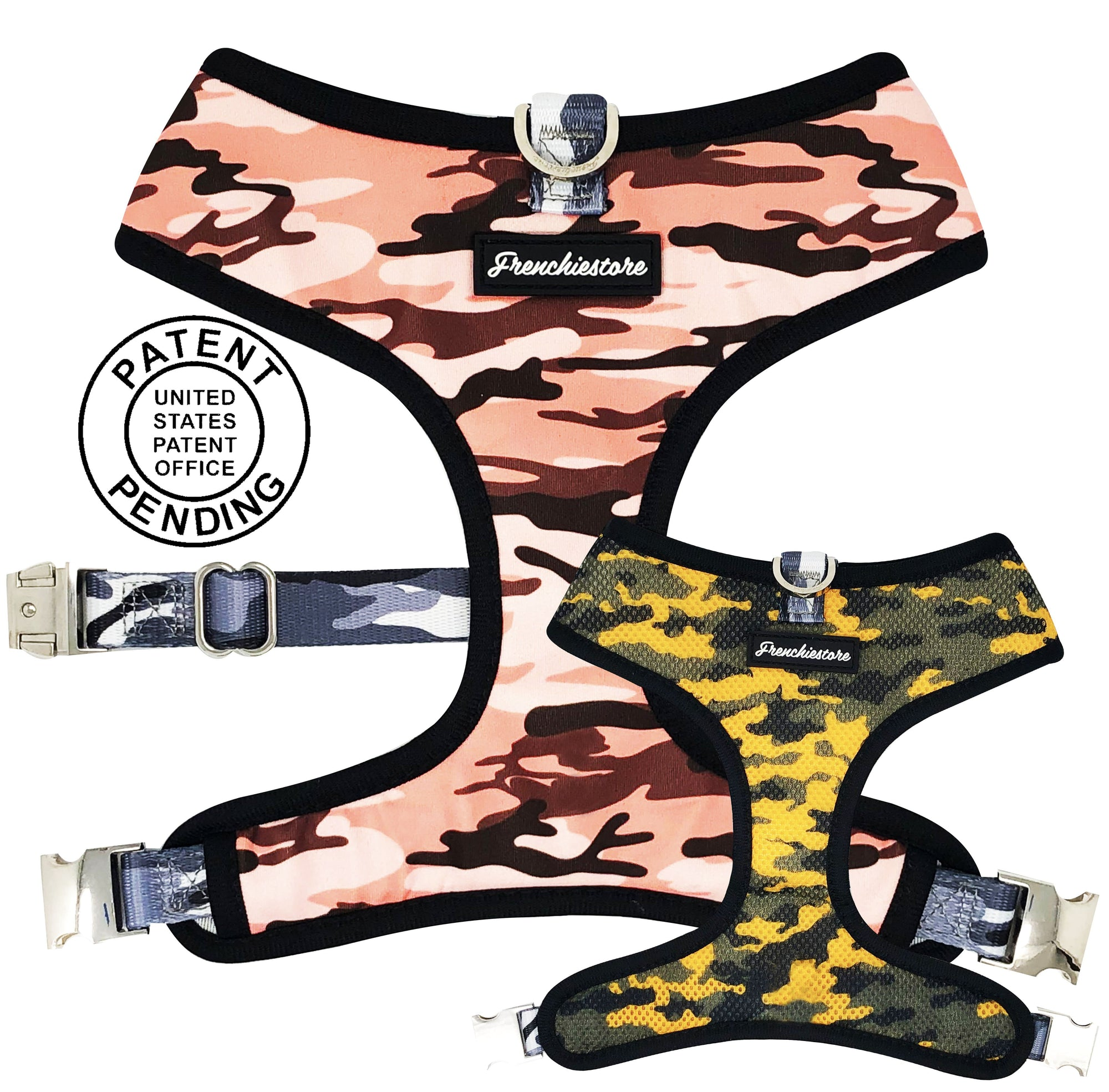 Frenchiestore Reversible Dog Health Harness | Ultimate Camo, Frenchie Dog, French Bulldog pet products