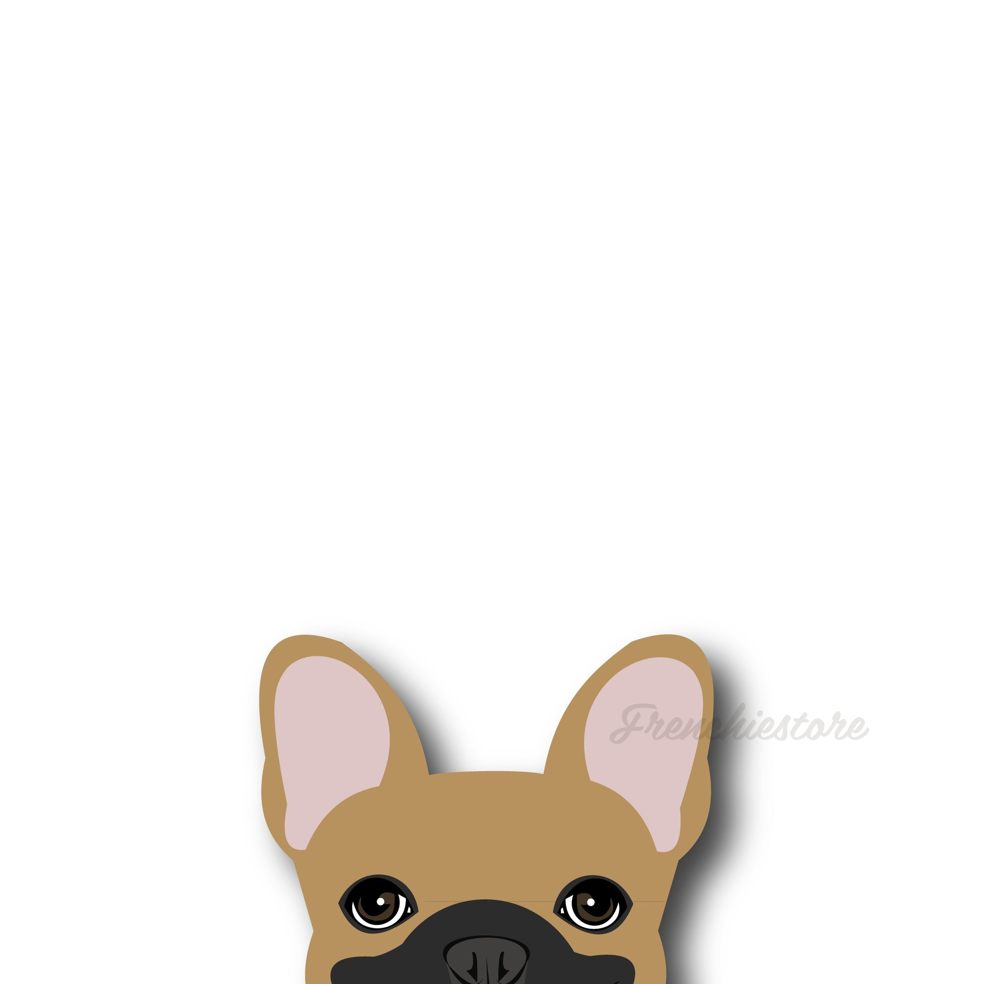 Autocollant Frenchie | Frenchiestore | Sticker Voiture Fauve W / Masque Bouledogue Français