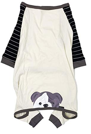 English Bulldog Organic Dog Pajama |  Choco Pied