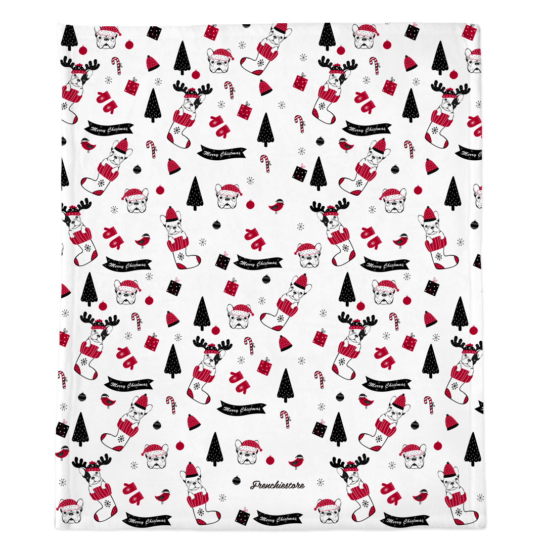 Christmas Frenchie Blanket | Frenchiestore, Frenchie Dog, French Bulldog pet products