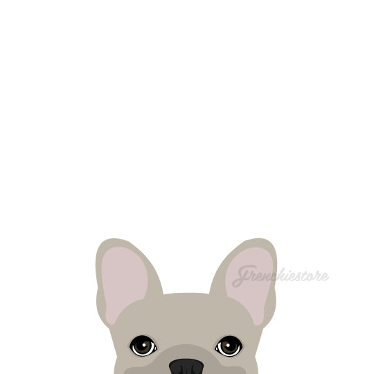 Frenchie Sticker | Frenchiestore | Etiqueta de coche Bulldog francés crema